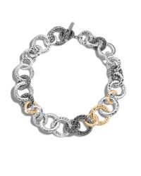 John Hardy | Metallic Classic Chain Hammered Link Necklace | Lyst