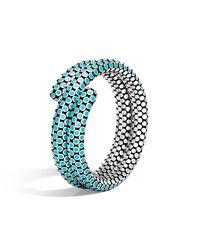 John Hardy - Blue Double Coil Bracelet In Turquoise Enamel - Lyst