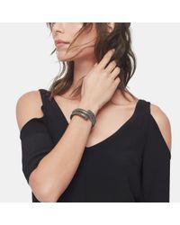 John Hardy - Double Coil Bracelet In Black Enamel - Lyst