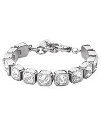 Dyrberg/Kern - Metallic Conian Swarovski Crystal Silver Tennis Bracelet - Lyst