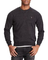 Ralph Lauren - Gray Polo Cotton Crew Neck Sweatshirt for Men - Lyst