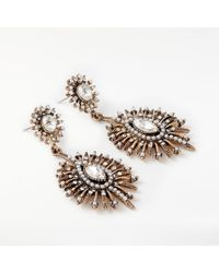 John Lewis - Metallic Baroque Faux Pearl And Crystal Drop Earrings - Lyst