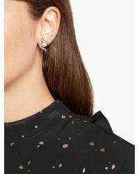 John Lewis - Brown Lido Pearls Swirl Cubic Zirconia And Pearl Stud Earrings - Lyst