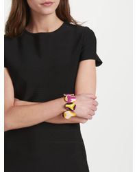 One Button - Multicolor Abstract Bead Stretch Bracelet - Lyst
