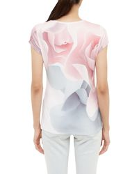 Ted Baker - Pink Ciaa Porcelain Rose Fitted T-shirt - Lyst