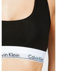Calvin Klein   Black Modern Cotton Racerback Bralette   Lyst