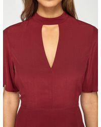 Miss Selfridge - Red Tea Dress - Lyst
