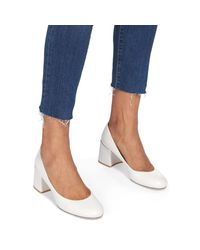Whistles - White Esther Block Heeled Court Shoes - Lyst