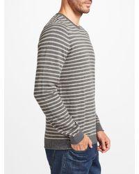 John Lewis - Gray Budding Stripe Cotton Jumper for Men - Lyst