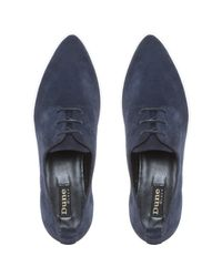 Dune Black - Blue Frenche Pointed Lace Up Trainers for Men - Lyst