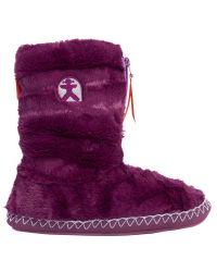 Bedroom Athletics | Red Marilyn Faux Fur Slipper Boots | Lyst