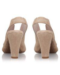 Carvela Kurt Geiger | Blue Arabella Cone Heel Open Toe Court Shoes | Lyst