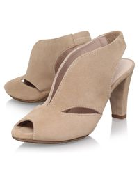 Carvela Kurt Geiger - Blue Arabella Cone Heel Open Toe Court Shoes - Lyst