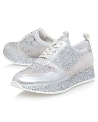 KG by Kurt Geiger   Metallic Lanza Lace Up Trainers   Lyst