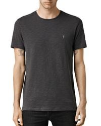 AllSaints - Black Soul Crew T-shirt for Men - Lyst