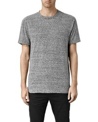 AllSaints - Gray Detress Crew T-shirt Usa Usa for Men - Lyst