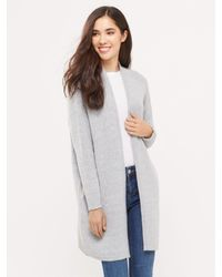 Oasis - Gray 2 Tone Cosy Cardigan - Lyst