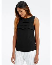 Oasis | Black Crepe Shell Top | Lyst