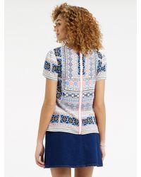 Oasis - Blue Cancun Beach T-shirt - Lyst