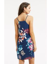 Oasis - Multicolor Tropical Placement Print Cami Dress - Lyst