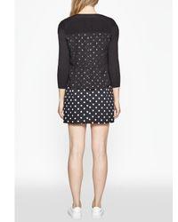 French Connection - Black Dotty Spot Cotton Dress - Lyst