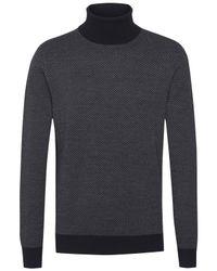 Tommy Hilfiger | Blue Wool Roll Neck Sweater for Men | Lyst
