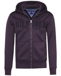Tommy Hilfiger | Purple Reese Full Zip Hoodie for Men | Lyst