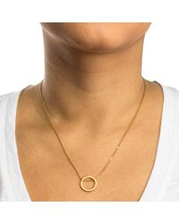 Dogeared | Metallic Circle Open Sliding Ring Necklace | Lyst
