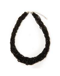 John Lewis - Black Sparkle Bead Twist Statement Necklace - Lyst