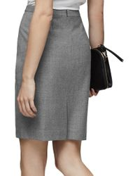 Reiss - Gray Austin Tailored Pencil Skirt - Lyst