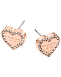 Michael Kors Pink Monogram Station Necklace