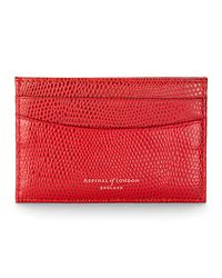 Aspinal - Purple Leather Slim Credit Card Case - Lyst