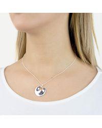 Georg Jensen - Metallic Hidden Heart Pendant Necklace - Lyst