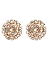 Ted Baker - Metallic Sully Swarovski Crystal Stud Earrings - Lyst