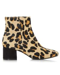 Dune | Multicolor Packham Block Heeled Ankle Boots | Lyst