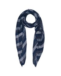 French Connection | Blue Drew Scarf | Lyst