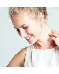 Kit Heath - Metallic Sterling Silver Flourish Drop Earrings - Lyst