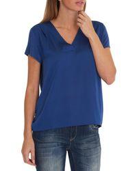 Betty & Co. - Blue Oversized Top - Lyst