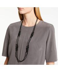 John Lewis - Black Long Sparkle Bead Layered Necklace - Lyst