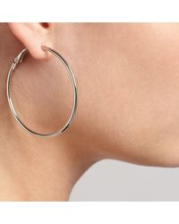 John Lewis - Metallic Hoop Earrings - Lyst