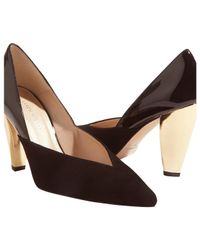 Karen Millen - Black Collection Hammered Heel Court Shoes - Lyst
