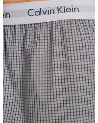 Calvin Klein - Gray Woven Boxer Shorts for Men - Lyst