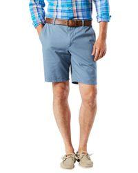 Dockers   Blue Broken Cotton Shorts for Men   Lyst