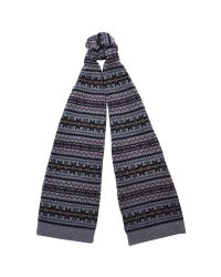Barbour | Gray Martingale Fair Isle Lambswool Scarf for Men | Lyst
