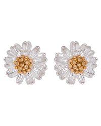 Estella Bartlett - Metallic Mini Wildflower Silver Plated Earrings - Lyst