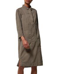 Toast - Green Cotton Twill Workwear Dress - Lyst