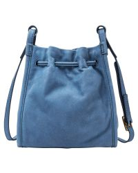 Fossil - Blue Claire Tasseled Drawstring Small Cross-body Bag - Lyst