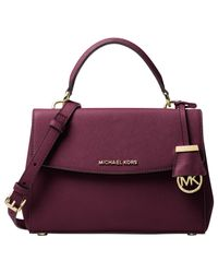 MICHAEL Michael Kors - Purple Ava Small Leather Satchel - Lyst