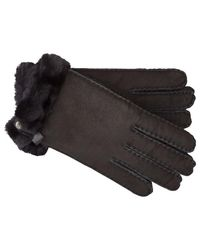 UGG - Black Tenney Sheepskin Gloves - Lyst