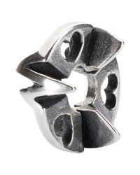 Trollbeads - Metallic Heart Rhythm Charm - Lyst
